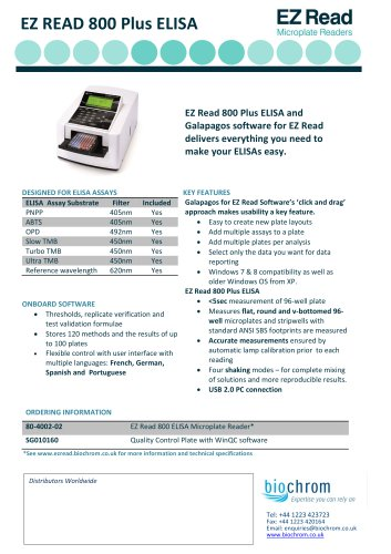 EZ Read 800 Plus Microplate Reader