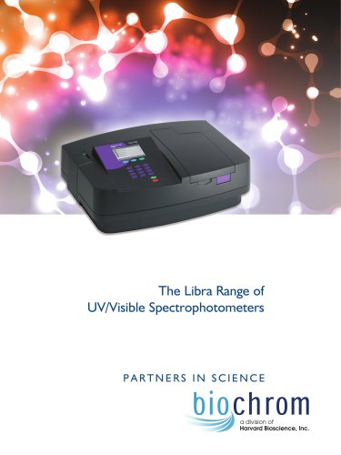 The Libra Range of UV/Visible Spectrophotometers