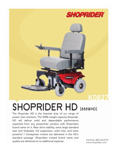 All Shoprider Catalogs And Technical Brochures