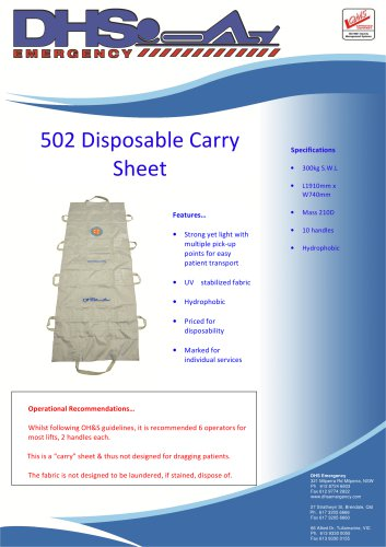 502 Disposable Carry Sheet
