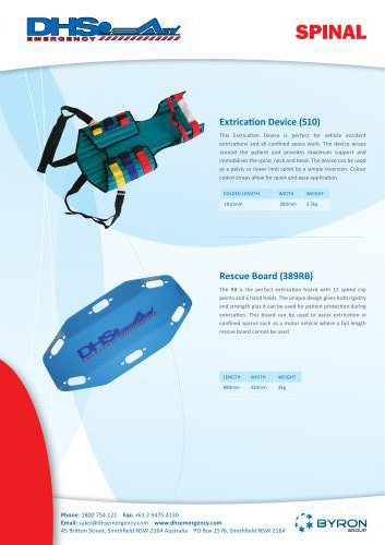 DHS- Extrication Device (510) & Rescue Board (389RB) Flyer