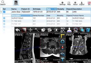 aplicativo Web para imagens médicas