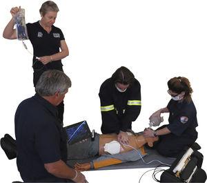 simulador de paciente para cuidados de emergência