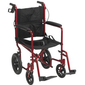 cadeira de transferência de paciente para ambiente interno / para ambiente externo / dobrável / de altura regulável