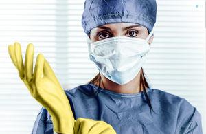 luvas cirúrgicas de proteção radiológica