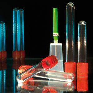 tubo de coleta cilíndrico / de soro / com ativador de coagulação