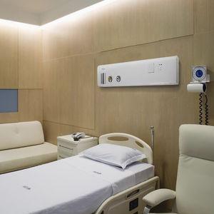 painel de gases medicinais horizontal