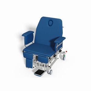 cadeira de transferência de paciente para pacientes obesos / elétrica / de altura regulável / com encosto regulável