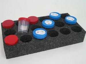 bandeja para transporte de amostras