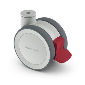 roda em poliuretano / em poliamida / giratória / com freio