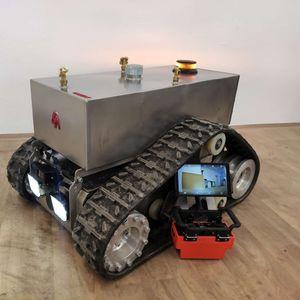 robô de desinfecção pulverizadora