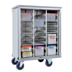 armário de esterilização / para hospital / 2 portas / com portas de abrir