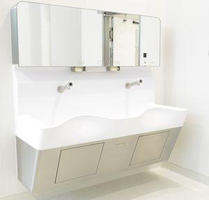 lavatório para centro cirúrgico com 2 postos