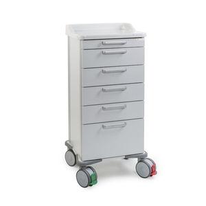 carrinho para tratamentos / de distribuição de medicamentos / para medicamentos / com 4 gavetas