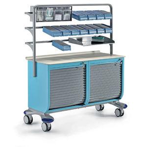 estante de armazenamento e dispensação de medicamentos móvel