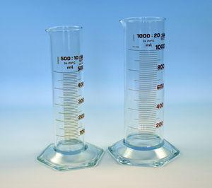 proveta em vidro borossilicato