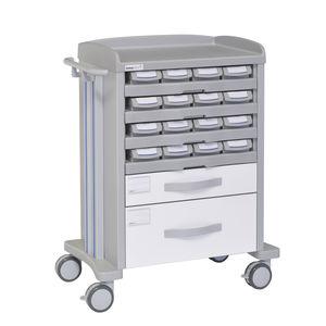 carrinho de distribuição de medicamentos