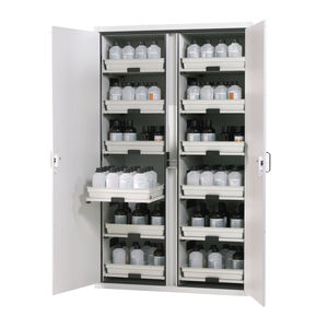 armário de segurança / para líquidos inflamáveis / para ácidos / para matérias perigosas