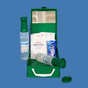 kit de lavagem ocular