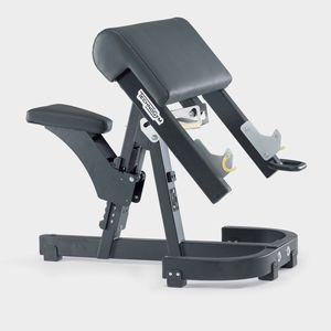 banco de musculação Larry Scott / com suporte de halteres