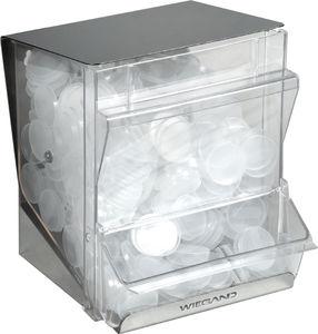 dispensador de tampas para copos