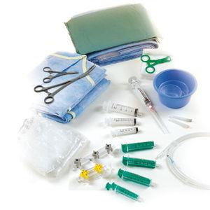 kit de instrumentos para angiografia / estéreis / descartáveis