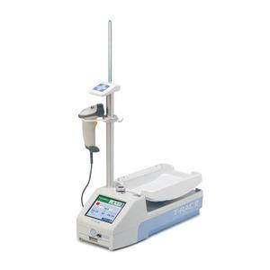 monitor de coleta de sangue com leitor de códigos de barras