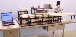 transportador para laboratório