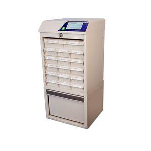 armário de distribuição automática de medicamentos de medicamentos / para farmácia / de abastecimento / com tela sensível ao toque