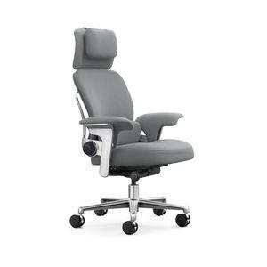 cadeira de escritório / com braços / com rodízios / com encosto alto
