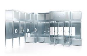 sistema de barreira para acesso restrito para salas limpas