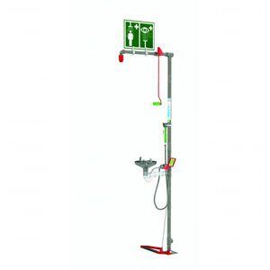 estação de lavagem ocular com pia / 1 cilindro / com chuveiro de emergência