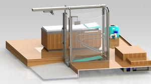 esteira elétrica aquática / com corrimão