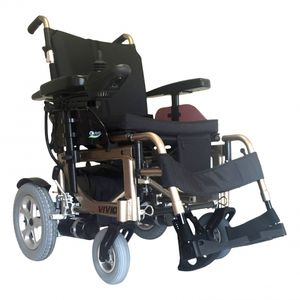 cadeira de rodas elétrica / para ambientes externos / para ambientes internos / com apoios para pernas