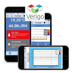 aplicativo para iOS para registrador de temperatura