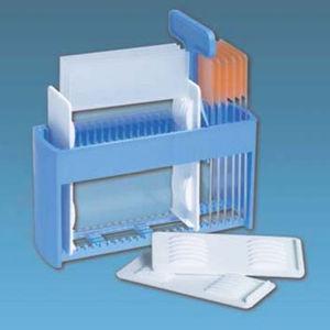 suporte de laboratório para lâminas de microscópio