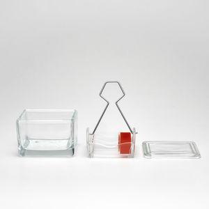 cuba de coloração em vidro