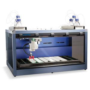 sistema de automação de laboratório para amostragem de gotas de sangue seco