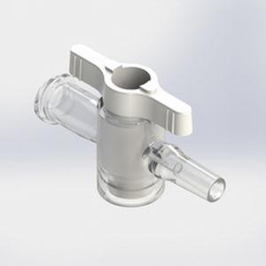 conector de infusão reto
