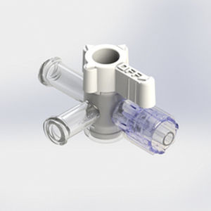 conector de infusão em T