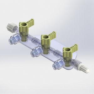manifold para infusões múltiplas com 3 vias