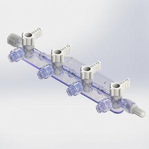 manifold para infusões múltiplas com 4 vias