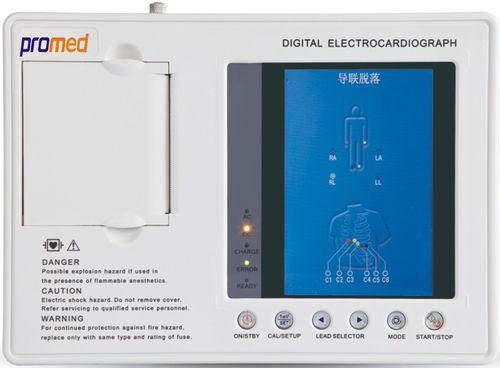 eletrocardiógrafo de 3 canais