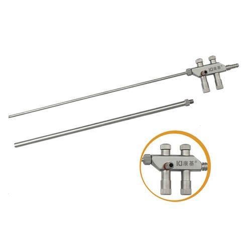 cânula de aspiração / de irrigação / laparoscópica / reta