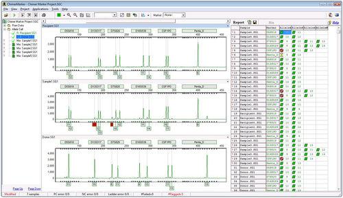 software para análise de quimerismo