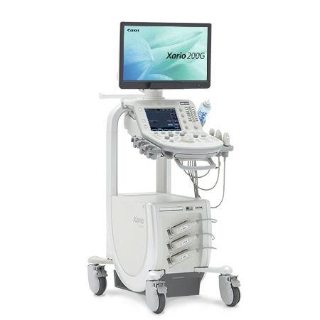 aparelho de ultrassom com carrinho