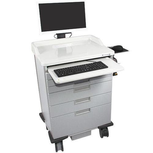 carrinho para computador com sistema de segurança