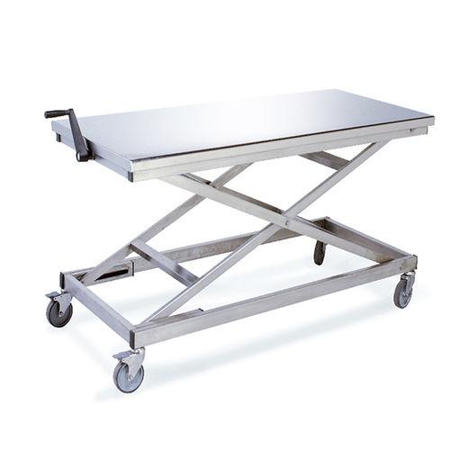 mesa de preparação de corpos