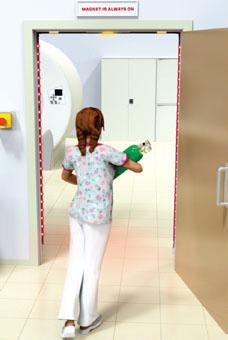 detector de metais para ressonância magnética de parede
