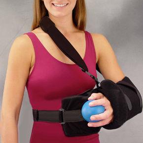 tipoia com almofada de abdução de ombro / com faixa de apoio na cintura